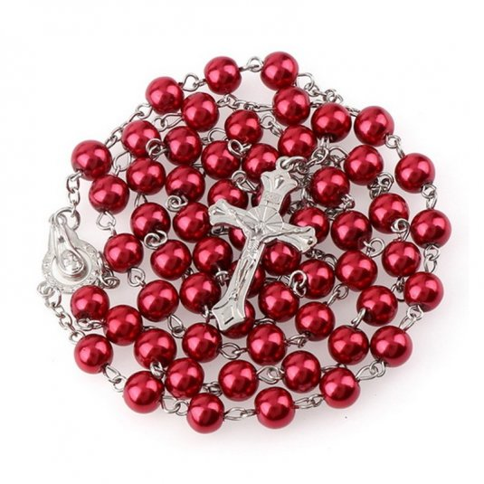 Ruženec červený perlový