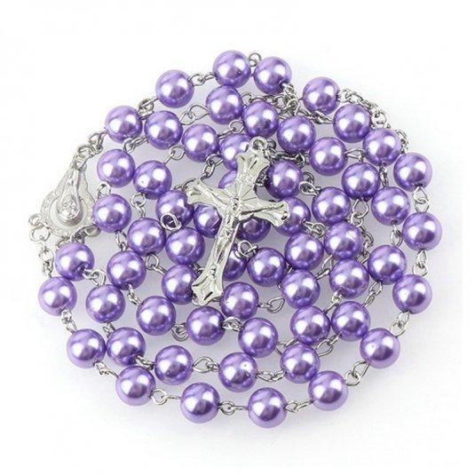 Ruženec fialový perlový