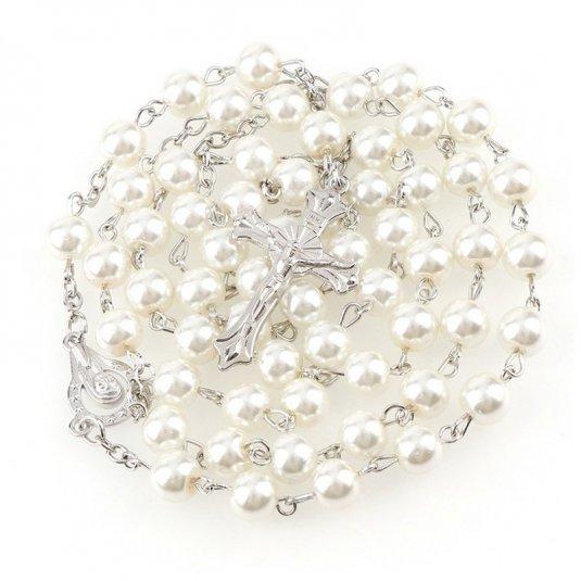 Ruženec biely perlový