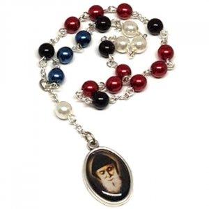 Farebný perlový ruženec Sv. Charbeľ
