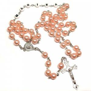 Ruženec bledoružový perlový