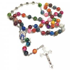 Ruženec s menom s medailou zázračnej Panny Márie farebný