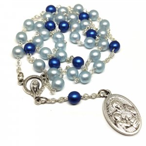 Ruženec modrý perlový Sv.Anna