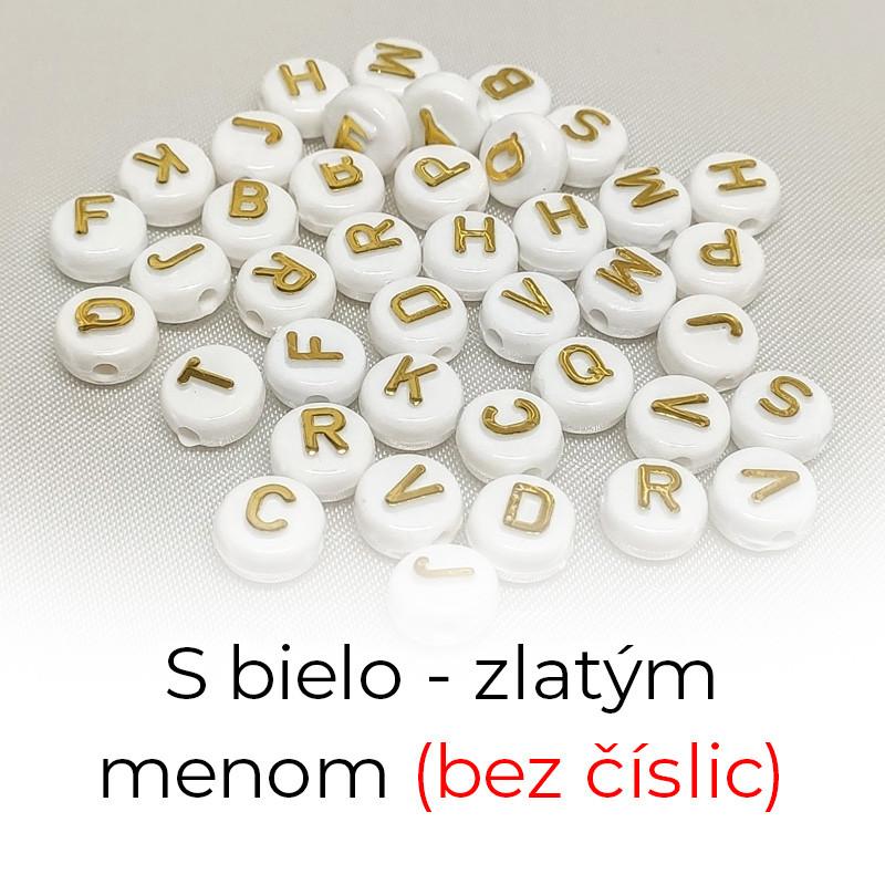 S bielo zlatým menom